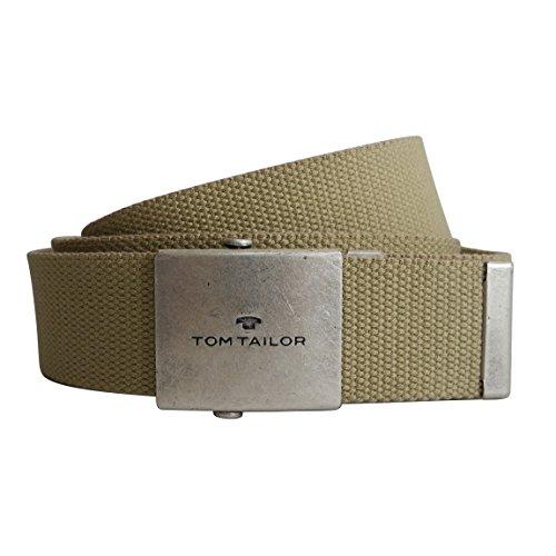 Unisex-Gürtel von Tom Tailor - leichter Damengürtel Herrengürtel Unisex-Belt aus stabilem Nylongewebe mit Metall Klemmverschluß ( Natur ) - präsentiert von ZMOKA®