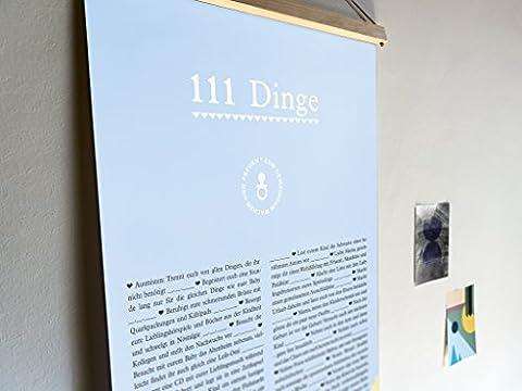 """""""111 Ideen für frischgebackene Eltern"""" - kreatives und einzigartiges Geschenk für Eltern und Baby zu Geburt, Taufe, Babyparty, Babyshower - extragroßes Poster"""