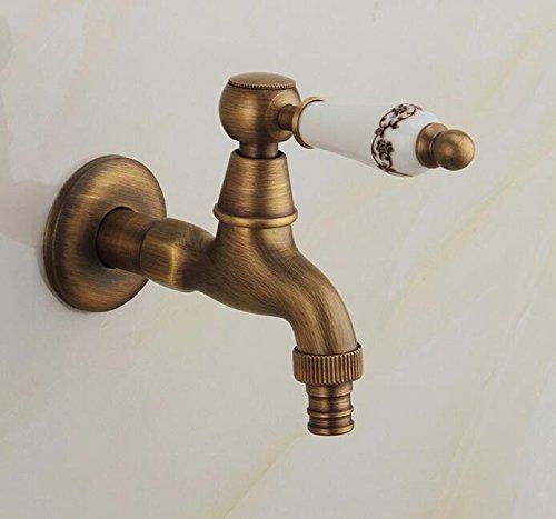 Ytdzsw Klassische Antike Bronze Finish Keramik Griff Waschmaschine Wasserhahn Wc Nur Wasserhahn Kaltwasser Armatur Wandhalterung