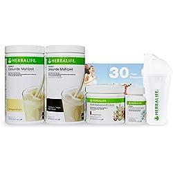 HERBALIFE - Das NEUE Gewichtskontroll-Programm - proteinbasiert, vitaminversorgend und ballaststoffreich - 6teilig - Vanille-Cookies&Cream