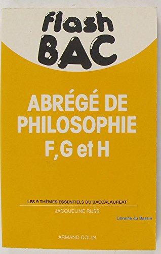 Abrégé de Philosophie F, G et H