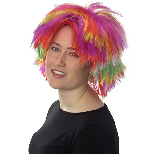 Low Cost Punk Rocker 80's Rainbow Wig