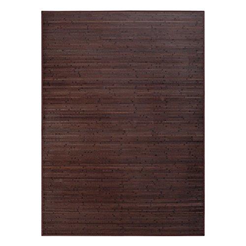 Alfombra de salón o comedor industrial marrón de bambú de 180 x 250 cm Factory - Lola Derek