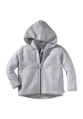hessnatur Baby Mädchen und Jungen unisex Fleece Jacke aus reiner Bio-Baumwolle blau, grau, grün, rot 62/68, 74/80, 86/92, 98/104 (Baumwoll-jersey-jacke)