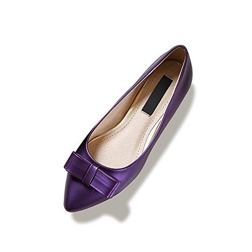 Femme Ballerines Plate Tete Pointu En PU Mode Elegant Simple Classique Violet