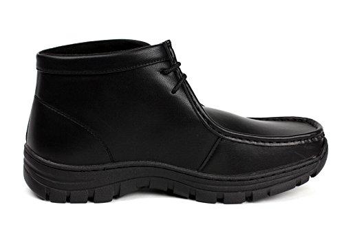Mode Masculine Jas Avec Des Lacets Chelsea À L'ankle Comfort School Bottes Décontractées Élégant Bureau Shoes Noir
