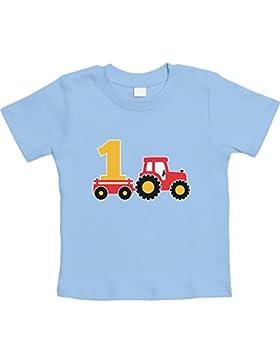 1 Jahr Geburtstag Junge Geschenk Traktor Bagger Unisex Baby T-Shirt Gr. 66-93