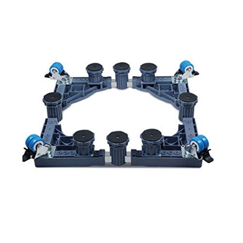 Qiangzi Einstellbare Basisständer Heavy-Duty Einstellbare Gerät Roller Base Blau Squared Wäschetrockner Herd Gefrierschränke Bad Küche 1000 KG Last Für Badezimmer Küche (Küche Roller Wagen)