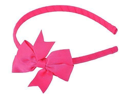Haarreifen mit schönen Grob geripptes seidentuch Haarschleife Haarschleife Band Haarband - Hot Pink