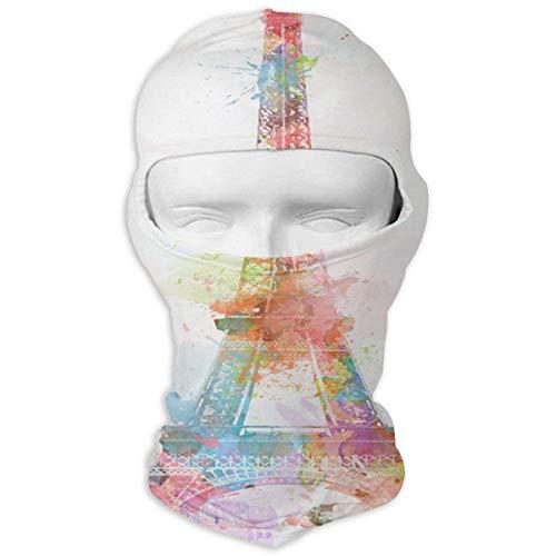 Jxrodekz Balaclava Watercolor Eiffel Tower Hot Face Mask Snowboarding for Men