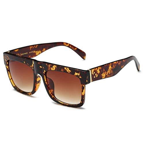 TYJYTM Sonnenbrille Damenmode Flat Top Vintage Acetat Square Style Sonnenbrille UV400 Brillen für Frauen