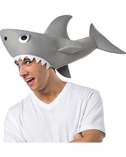 Lizenzierte Sharknado Haifisch Mütze für Halloween & Fasching (Hai Hut Kostüm)