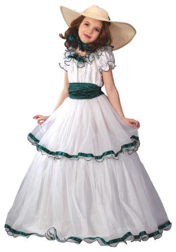 Eine Kostüm Belle Southern - Unbekannt Kinder Southern Belle Scarlet O 'Hara Halloween-Kostüm