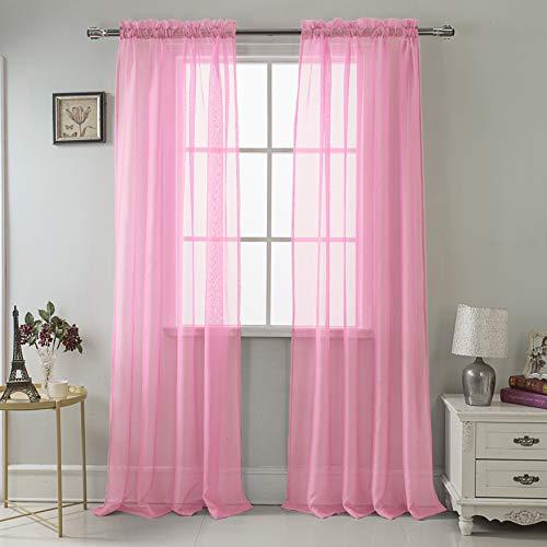 RT Collection Celine Sheer Fenster Vorhang Panel, Dusty Rose, Single Panel - 55 x 90 in. (Rose Vorhänge Dusty)