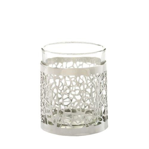 YANKEE CANDLE - 1507953 - PHOTOPHORE POUR BOUGIE VOTIVE MATRIX BRUSHED SILVER