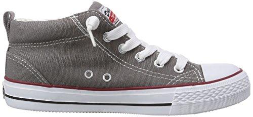 Dockers by Gerli 36AY60, Sneaker alta unisex bambino Grigio (Grau (grau 200))