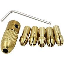 QHGstore 0.5-3Mm piccolo trapano elettrico Bit Collet Mandrino set con chiave a brugola 3.17mm