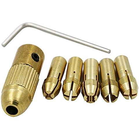 QHGstore 0.5-3Mm broca pequeña eléctrico Collet Portabrocas fijado con una llave Allen 3.17mm