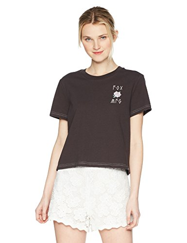 Fox Damen Rosey Crop Knit TOP Hemd, Black Vintage, Groß -