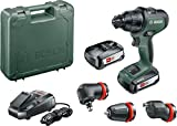 Bosch Trapano Battente-Avvitatore AdvancedImpact 18, 2 Batterie, Sistema a 18 V, con Accessori, in Scatola di Cartone