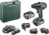 Bosch Akku Schlagbohrschrauber AdvancedImpact 18 Set (2x2,5 Ah Akkus, 18 Volt System, HMI, mit Zubehörteilen, im Koffer)