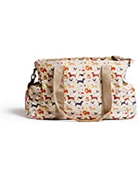 Baby Jalebi 'Puppy Love' Classic Multi-Functional Diaper Bag With Nanny Munny Padded Changing Water-Proof Mat