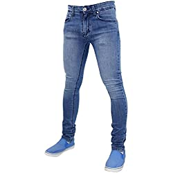 True Face, jeans da uomo skinny slim TF021 - Light Mid Wash 38W x 34L