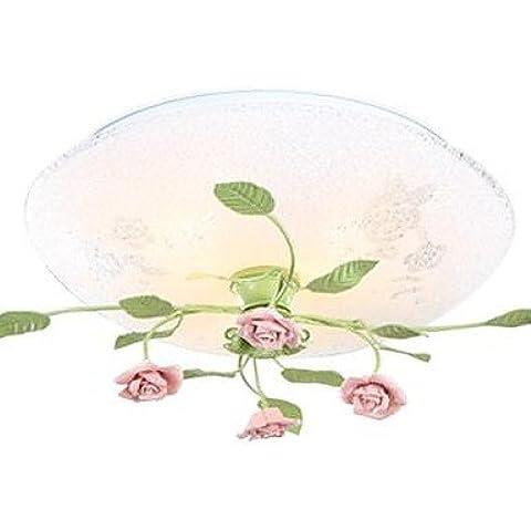 Montaggio a filo Light Art Ferro Ceramic rose moderne rurale