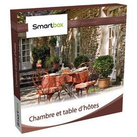 Coffret cadeau Smartbox - Chambre et table d'hôtes