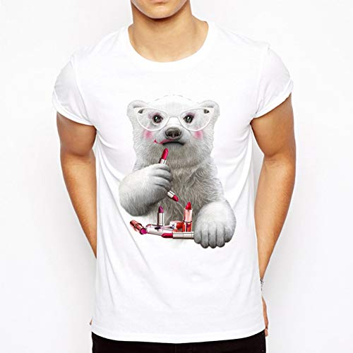 Hohe Qualität T-shirt (MKDLJY T Shirts Super Nette Lustige Eisbär T-Shirt Männer Frauen Tier Naughty T-Shirt Sommer Hohe Qualität Marke Kurzarm T Tops)