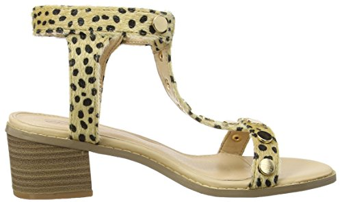 Dolcis Clemence, Scarpe Col Tacco con Cinturino a T Donna Beige (leopard Pony)