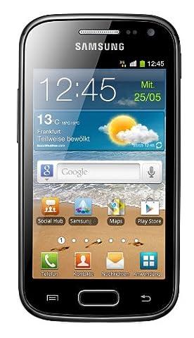 Samsung Galaxy Ace 2 I8160 Smartphone mit NFC (9,7 cm (3,8 Zoll) Touchscreen, 5 Megapixel Kamera, Android 2.3) onyx-black mit