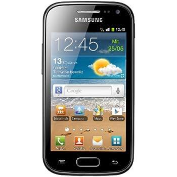 Samsung Galaxy Ace 2 GT-I8160 Smartphone (9,7 cm (3,8 Zoll) Touchscreen, 5 Megapixel Kamera, Android Betriebssystem) onyx-black ohne NFC