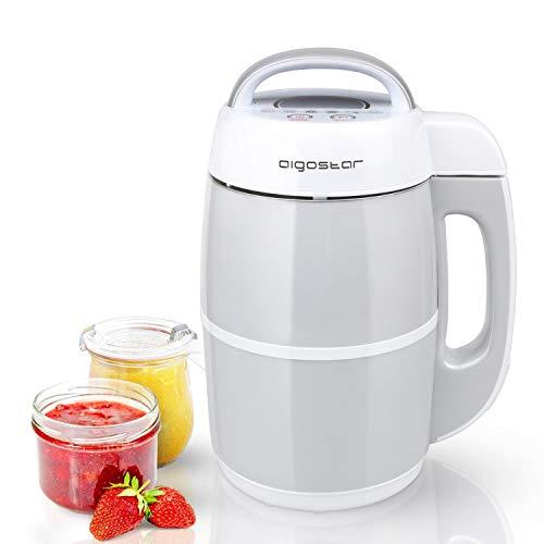Aigostar Beanbaby 30IMW - Machine à soupe, laits végétaux, confitures, smoothies. 952W, 1.7 L. 0% BPA, acier inoxydable haute qualité. Design exclusif.
