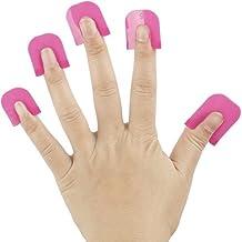 TRIXES Paquete de 26 Plantillas de Plástico Rosa para Esmaltar Uñas Ayuda Guía Manicura Esmalte de