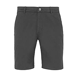 Asquith & Fox Mens Classic Fit Shorts - 6 Colours / 30-44 Inch Waist - Slate - M