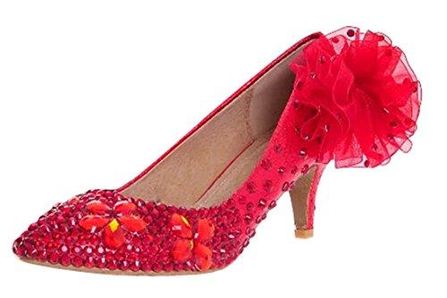 TDA , Sandales Compensées femme 6cm Heel Red