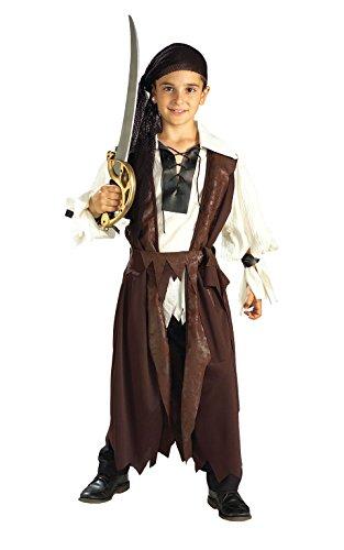 Karibik Pirat Kostüm Jungen groß (Piraten Kostüme Taille Schärpe)