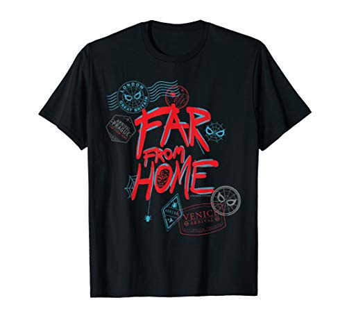 Marvel Spider-Man: Far From Home Passport Stamps T-Shirt
