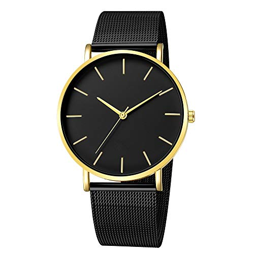 koperras Men Fashion Stainless Steel Mesh Band Watch,Men's Military Sport Date Analog Quartz Wrist Watch