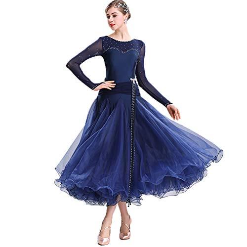 MoLi Klassisch Einfach Frauen Ballsaal-Tanzkleid Damen National Standard Tanzwettbewerb Kleid Lyrisch Walzer Tango Performance Kostüm Big Swing (Irischen Tänzerin Kostüme)