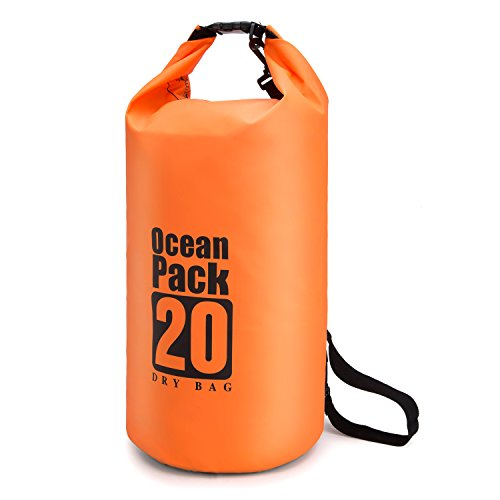 41PbP gjgTL - BEST BUY #1 Waterproof Dry Bag 20L/10L/5L, Dry Sack with Detachable and Adjustable Shoulder Strap, Perfect for Boating/ Kayaking/ Fishing/ Beach/ Swimming/ Camping/ Floating/ Rafting/Canoeing /Snowboarding Reviews and price compare uk
