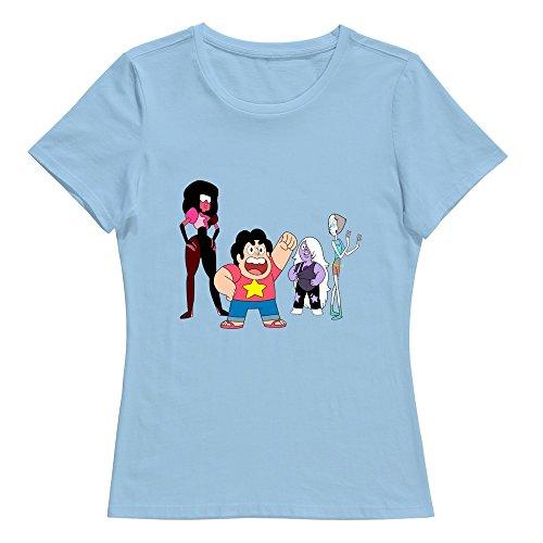KST Damen T-Shirt Gr. Small, Braun - Skyblue