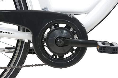 F.lli Schiano E-Moon 28'' bici elettrica bianca Img 4 Zoom