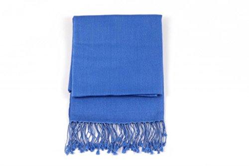 Ritz Collection les châles de soie pashmina des femmes Royal Blue