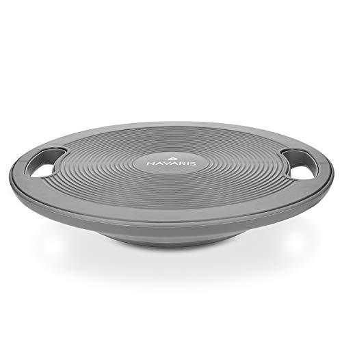 Navaris Pedana Propriocettiva Balance Board - Pedana per Esercizi Equilibrio Tavoletta per Propriocettività tavola Fitness Ø 40cm - Grigio Scuro