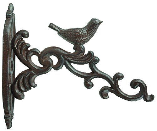 """Esschert Design Hanging Basket Haken Vogel, aus dem Material \""""Gusseisen\"""", 4,7 x 21,6 x 19,1 cm"""