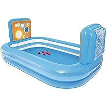 54170 Piscina inflable para niños de waterpolo con porterías de red 237x152x94cm