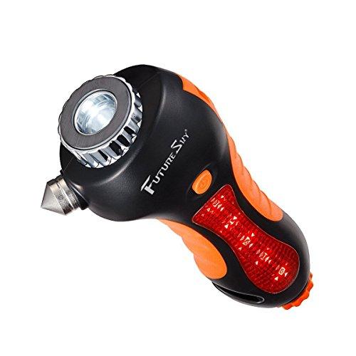 Futuresky fahrzeugsicherheit hammer 6-in-1 bei dem Notfall lebensrettend Einrichtung des Sitz-Gurtes Cutter Fenster Breaker - Auto bei Notfall rettungseinrichtung wesentliche katastrophe entkommen, werkzeug-gebaut in der Taschenlampe,Pfeifen,Magnet-Alarm Lampe