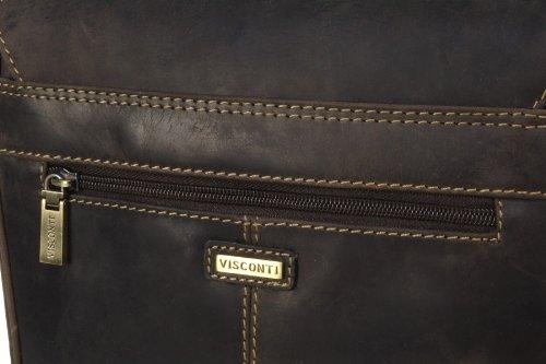 Visconti Leder Hunter Umhängetasche (18563) - Größe: B: 23 H: 28 T: 7 cm Öl Braun